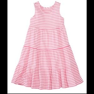 Hanna Anderson 150 pink stripe twirl dress size 12